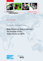 Negotiations on trade in services
