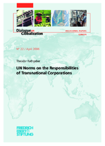 UN norms on the responsibilities of transnational corporations
