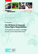 The UN norms on corporate human rights responsibilities