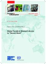 "Global trends in women's access to ""decent work"""