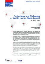 Performance and challenges of the UN Human Rights Council